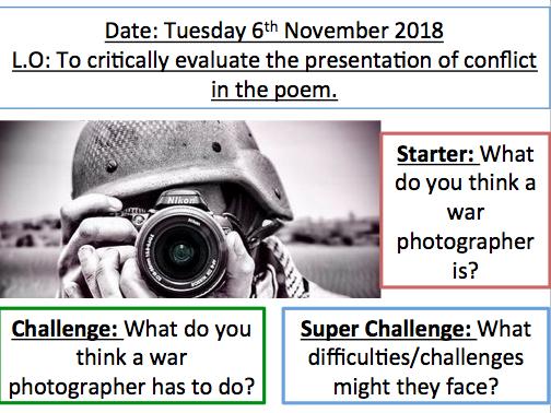 GCSE 4 Poem bundle (lesson, annotations, context, language analysis task.)
