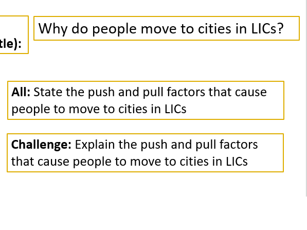 Why do people move to cities?