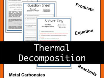 Thermal Decomposition Theory