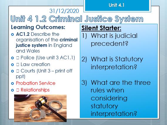WJEC Criminology Unit 4: Ac 1.2