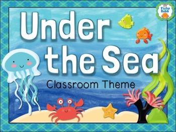 Under The Sea Classroom Theme Pack Ocean Decor