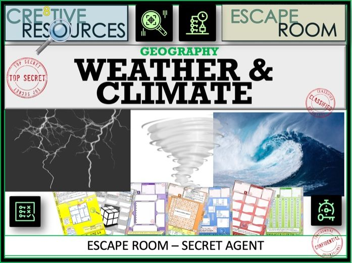 Weather and Climate - Geography  Escape Room