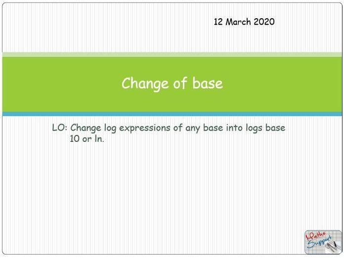 Change of base of a logarithm.