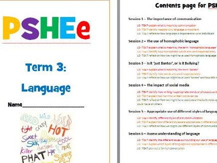 PSHE - Language and Communication
