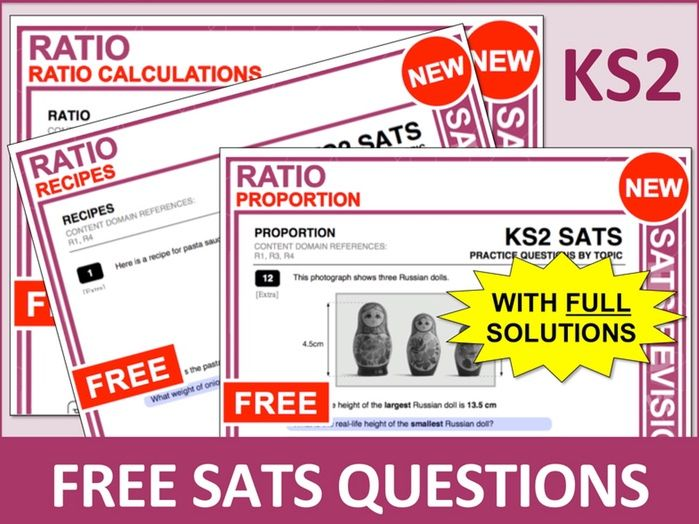 SATs Bundle (Ratio)