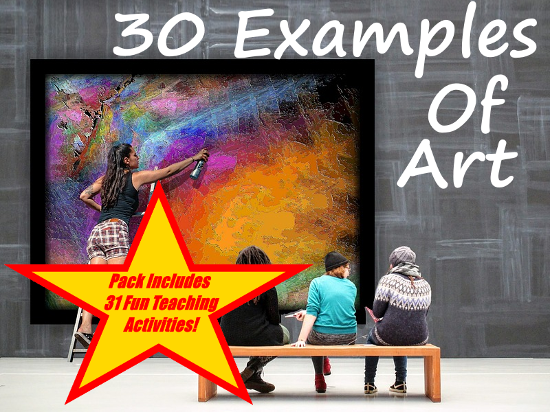 30 Examples Of Art PowerPoint Presentation + 31 Fun Teaching Activities For These Cards