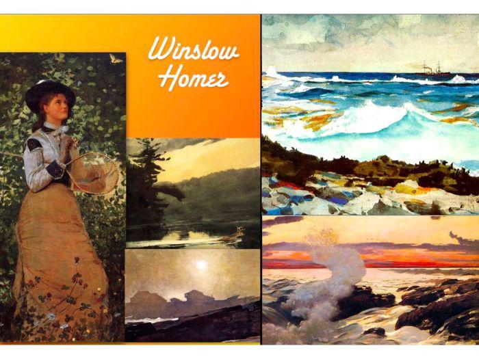 Winslow Homer - American Painter - 19th Century - Oil Watercolor - 187 Slides   (Public Domain)