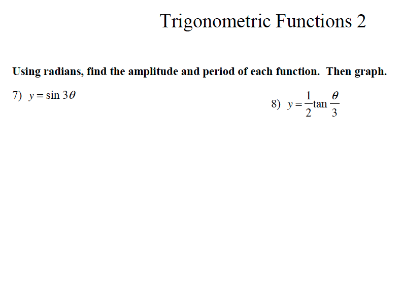 GCSE Maths Revision Trigonometric Functions