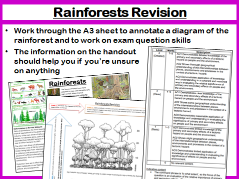 Geography GCSE AQA 9-1 Living World Revision (Rainforests and Hot Deserts)