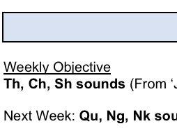 5 Week Phonics Lesson plan - Beginning sounds