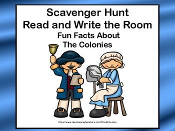 Reading-The Colonies- Read and Write The Room- Grades 3-6