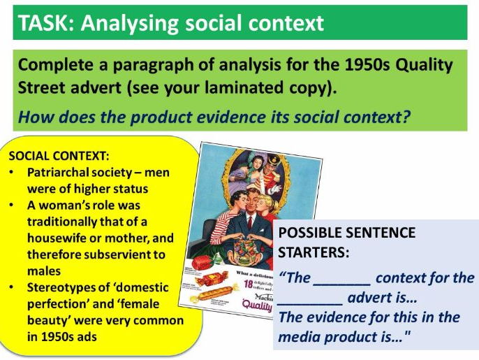 9-1 GCSE Media Studies Contexts lesson 1 (introduction to key terms)