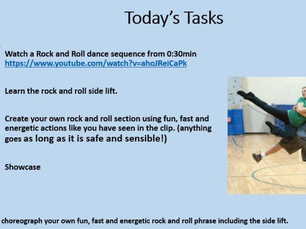 KS3 Dance 'Rock and Roll' 6 week (6 lesson) SOW and delivery PowerPoint