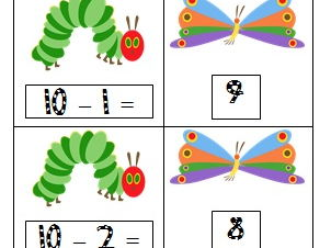 Hungry Caterpillar Subtraction Centers