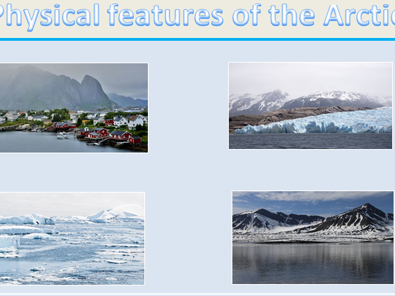 KS2 set of 2 differentiated Geography physical features of the Arctic worksheets.