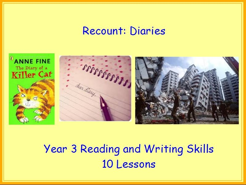 Recount - Diaries - Year 3 Reading and Writing Skills Pack 10 Lessons with Grammar Starters