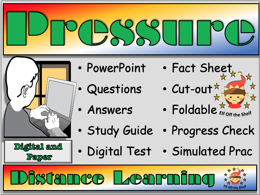 Forces - Pressure - Distance Learning and Homeschool for KS3