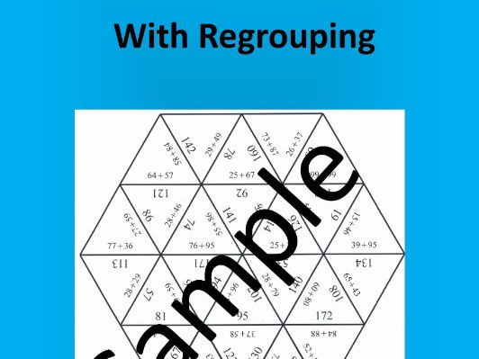 2-digit Addition With Regrouping (1) – Math puzzle
