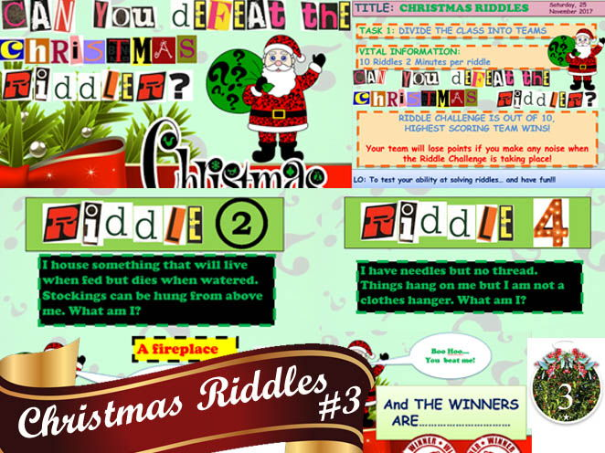 CHRISTMAS RIDDLES #3 FANTASTIC