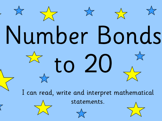 Number Bonds to 20 PowerPoint