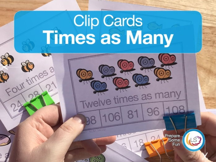 'Times as Many' - Clip Cards