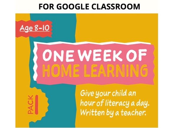 Digital Distance Learning Resource For Google Classroom: Pack 1 (8-10 years)