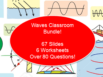 Waves Classroom Bundle (67 Slides + 6 Worksheets with 80+ Questions)