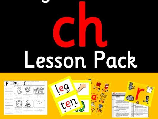 Phonics Worksheets, Lesson Plan, Flashcards | Jolly Phonics CH Lesson Pack