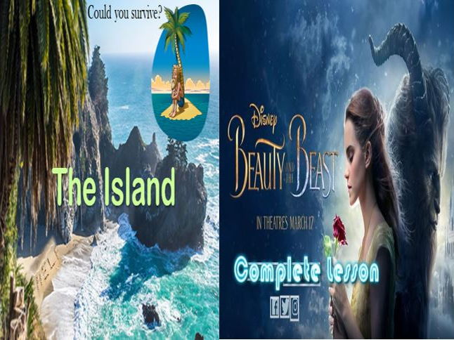 Beauty and the Beast Descriptive Writing + The Island and a Literacy Game