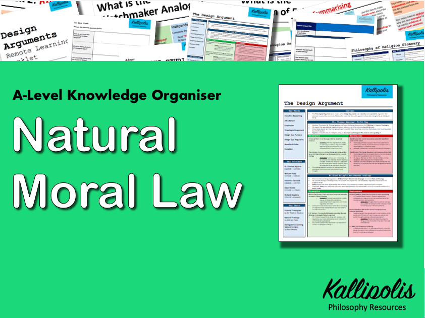 Natural Moral Law - Knowledge Organiser
