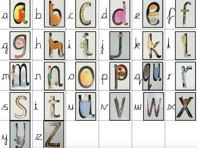 RWI - Read Write Inc Phonics Friezes - cursive script