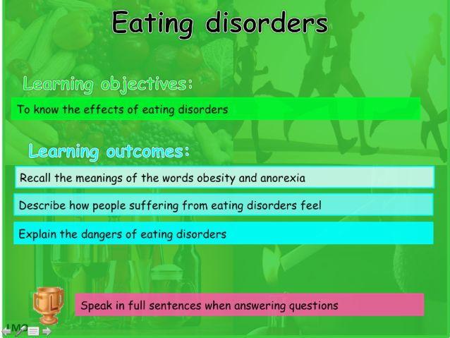 Healthy Lifestyles: Eating disorders