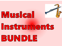 Instruments musicaux (Musical Instruments in French) Bundle