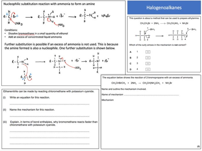New AQA Chemistry A-level Revision Mats/Grids 3.3.3 Halogenoalkanes