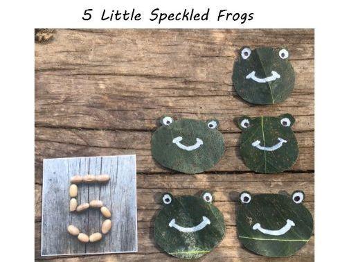 5 Speckled Frogs Number Rhyme Printables