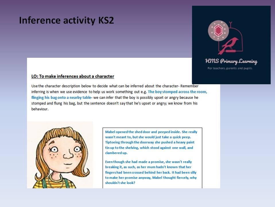 Inference activity KS2