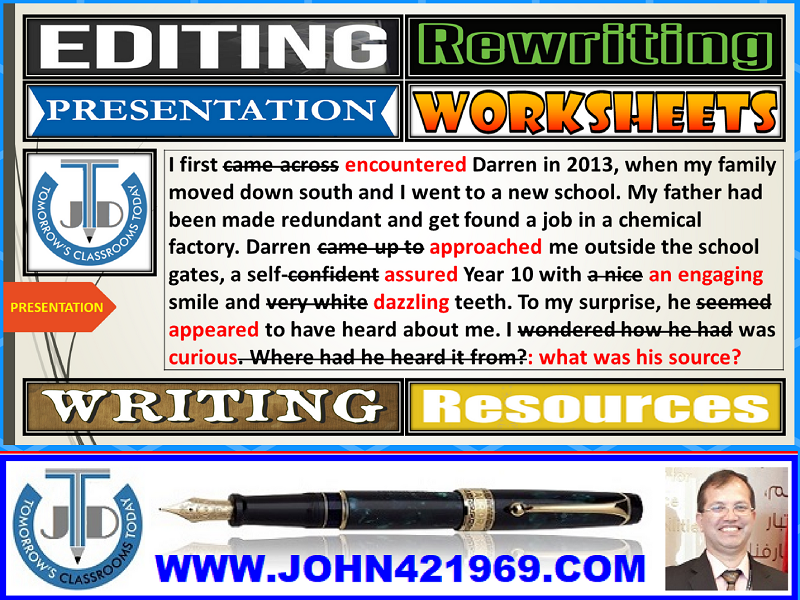 EDITING AND REWRITING: LESSON PRESENTATION