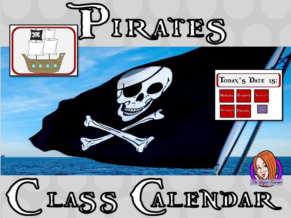 Pirate Classroom Calendar Display