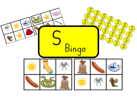 Bingo for initial sound, S