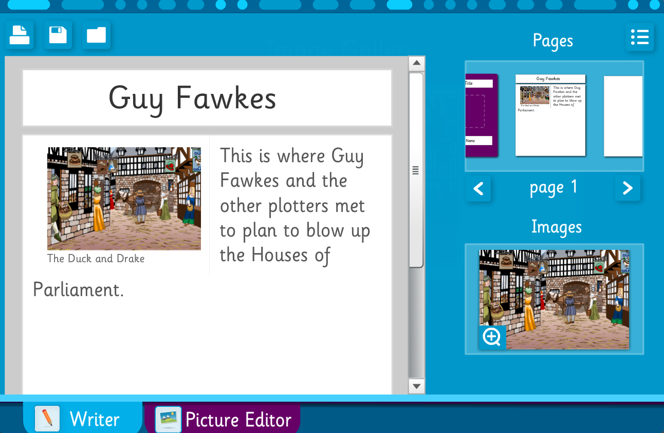 Guy Fawkes Space Scene and Story Builder - Interactive Activity - KS2 Literacy