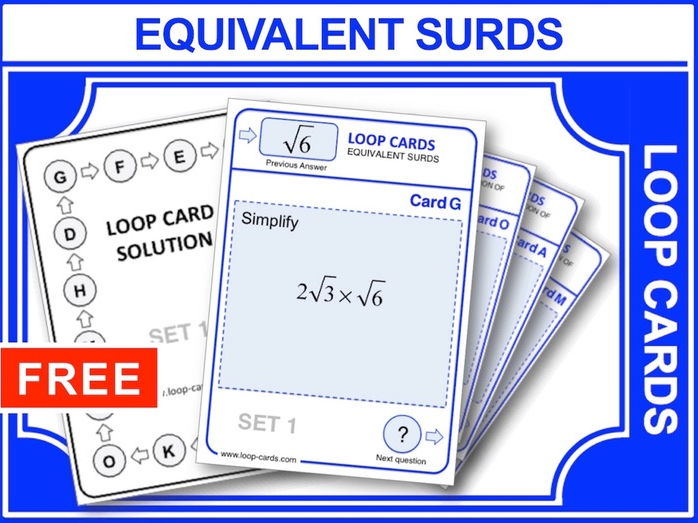 Equivalent Surds (Loop Cards)