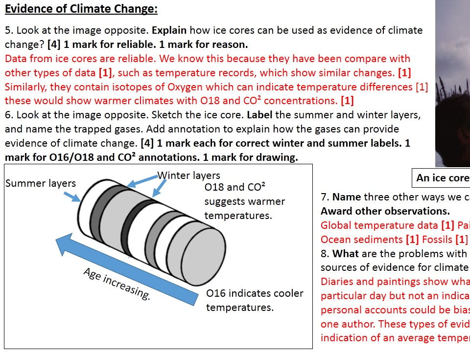 Year 9 Climate Change Lesson 1-4 with Topic Test Bundle
