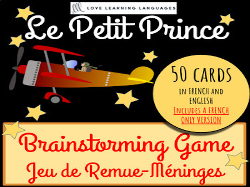 French Brainstorming game - Remue-Méninges - Petit Prince Edition