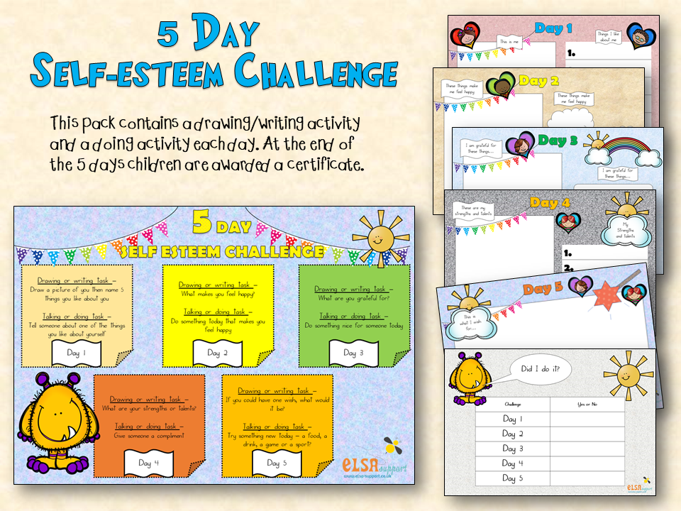 Self esteem 5 day challenge - ELSA Support