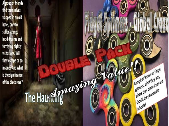 The Haunting Horror Story and Fidget Spinners Double Pack with Starters