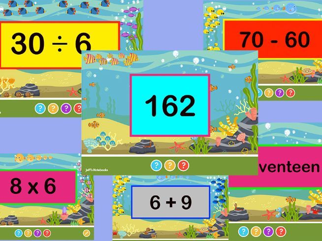 Flash Cards for Numbers & Calculation  Year 1 -3