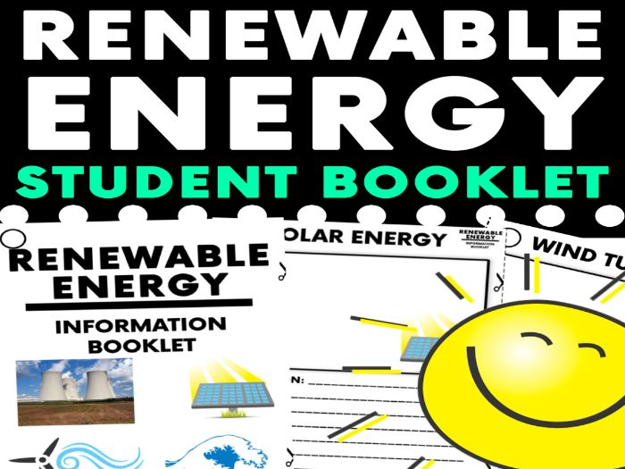 Renewable Energy Research Booklet