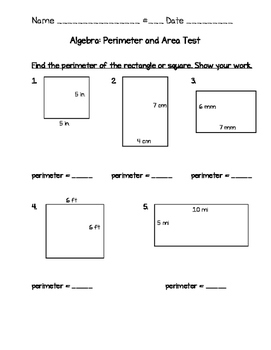 area and perimeter test questions Test and improve your knowledge of area and perimeter with fun multiple choice exams you can take online with studycom.