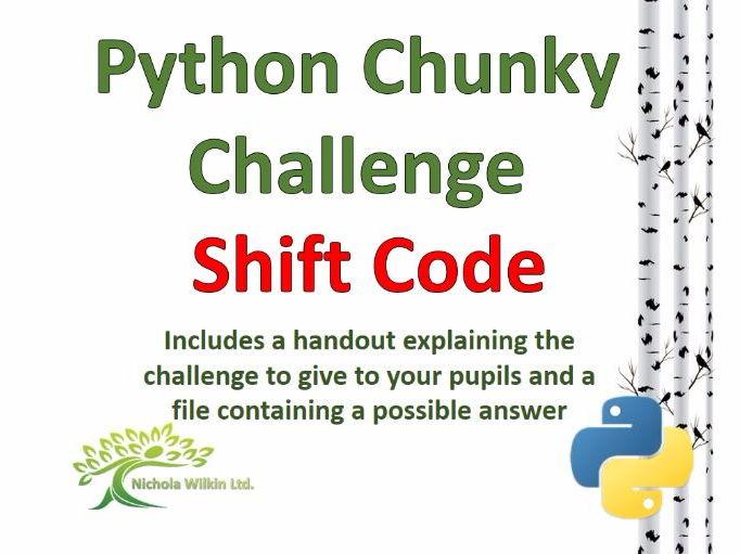 Shift Code Python Chunky Challenge