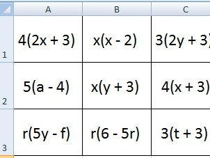 Factorising linear expressions worksheet tes